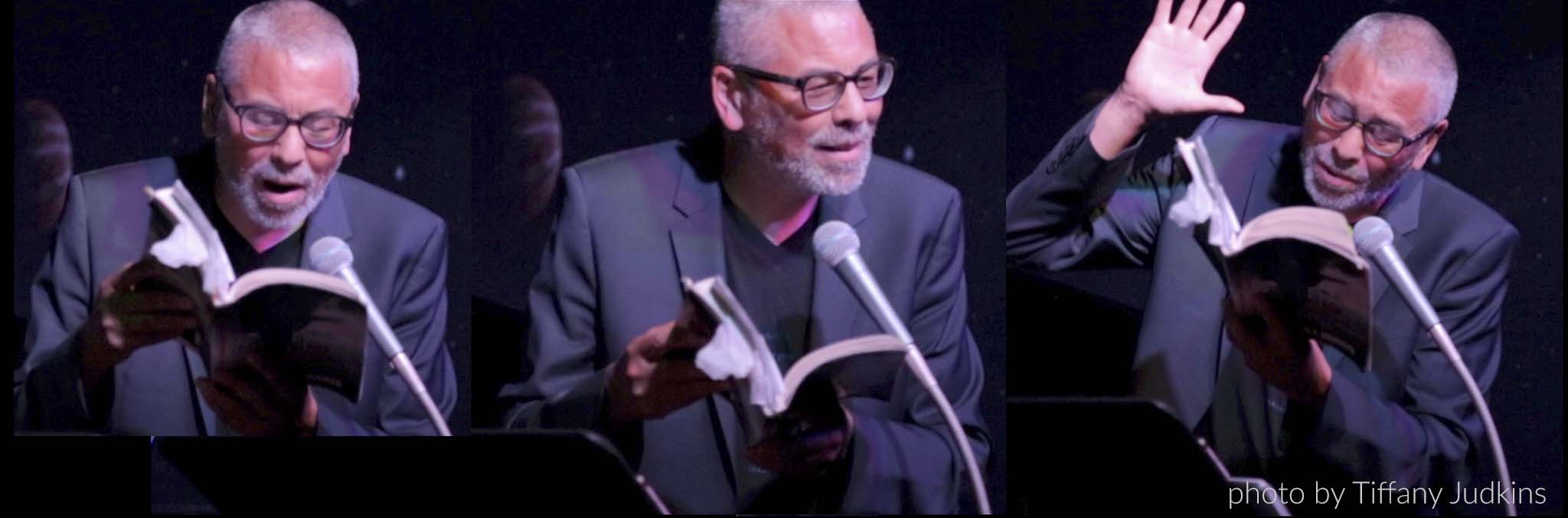 Peter reading The Johnson Chronicles by Peter J. Harris